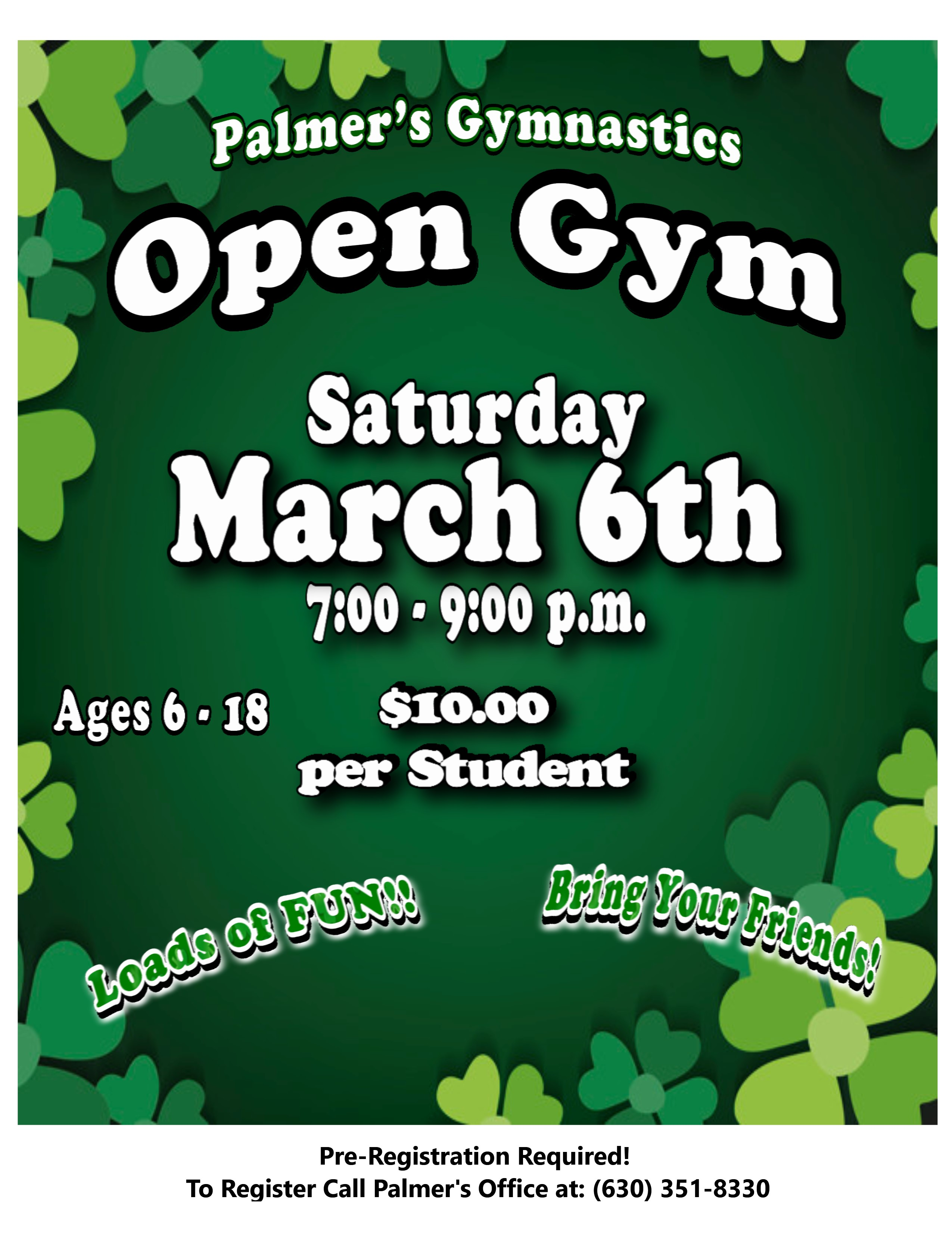 Open Gym March 6th